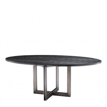Melchior matbord oval charcoal 1