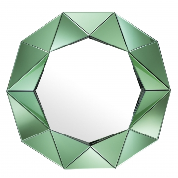 Del Ray spegel tredimensionell grön 1