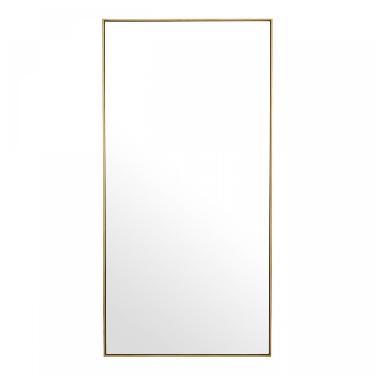 spegel med mässingsram