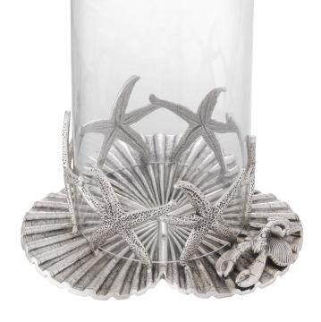 Sjöstjärna lykta antik silver 2