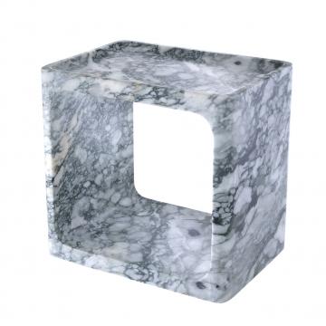 Vesuvio sidobord marmor vit 1