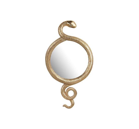 Listbild Snake spegel guld