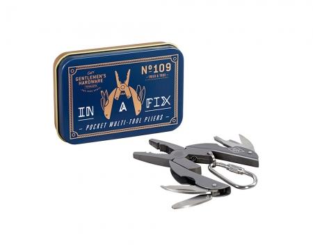 Fickverktyg nyckelring blå/grå
