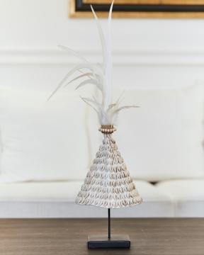 Cowrie dekoration vit 2