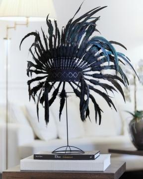 Fjäderbonad dekoration svart 2