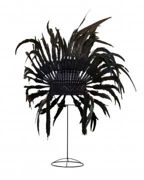 Fjäderbonad dekoration svart 3