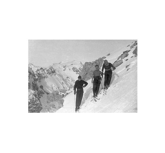 Listbild Skiing tavla 120x80