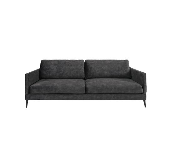 Listbild Andorra soffa sammet mörkgrå 3-sits