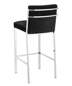 Scott barstol sammet svart hög 2