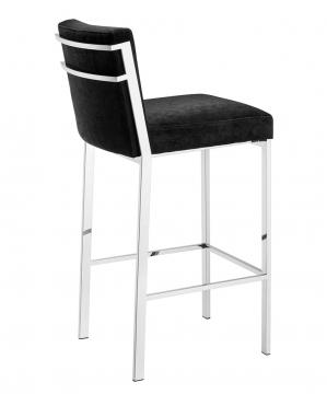 Scott barstol sammet svart hög 3