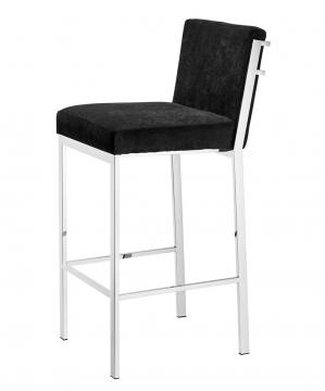 Scott barstol sammet svart hög 1
