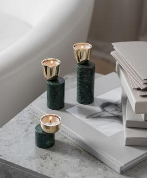 Streamer A ljushållare grön liten 4