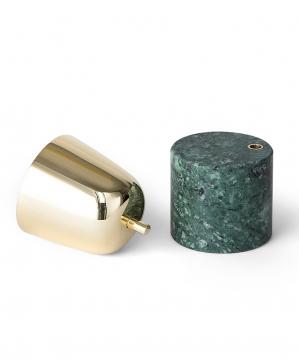 Streamer A ljushållare grön liten 2