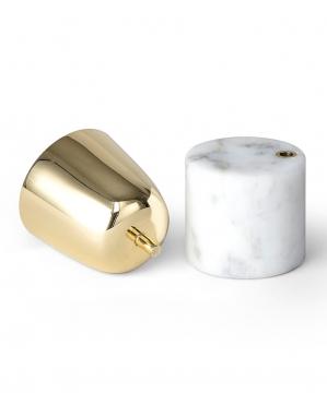 Streamer A ljushållare vit liten 2