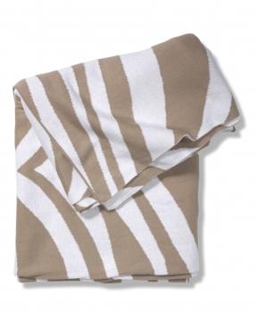Zebra pläd beige 1