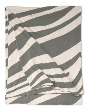 Zebra pläd grå 1