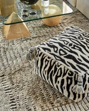 Zebra sittpuff svart/vit 2
