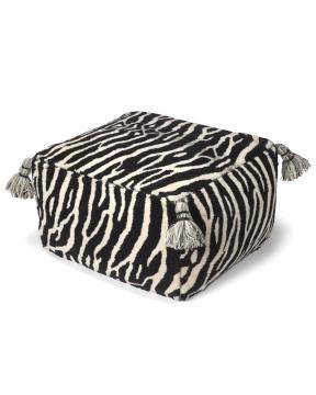 Zebra sittpuff svart/vit 1