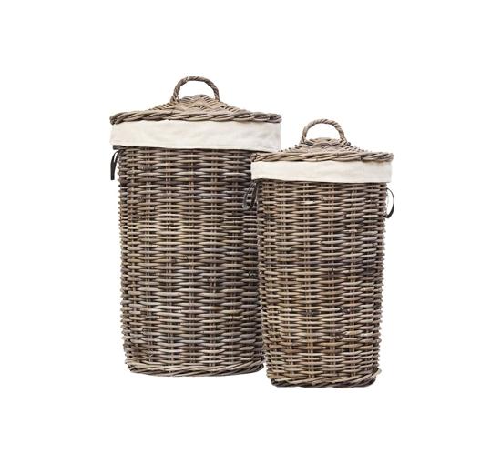 Laundry basket grey 1-2