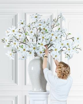 Magnolia snittblomma vit 155cm 5