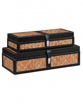 Fabriano förvaringsbox svart 2-pack 1