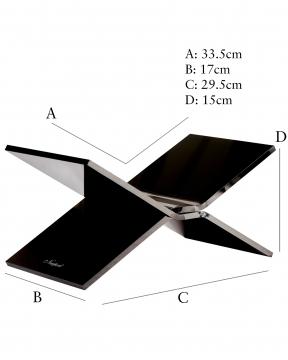 Bokstöd svart M 6