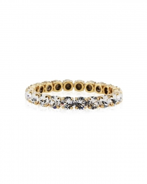 Gia Stretch armband crystal guld 3