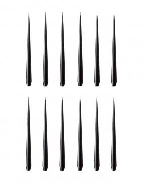 Stearinljus svart 12-pack 2