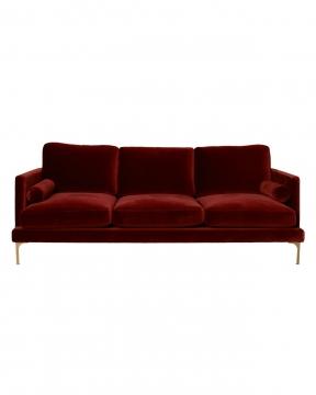 Bonham soffa 3-sits sangria/mässing 3