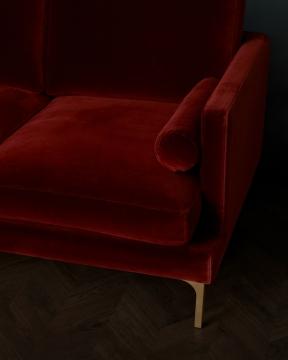 Bonham soffa 3-sits sangria/mässing 1