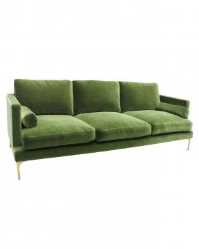 Bonham soffa 3-sits amazon green/mässing 2