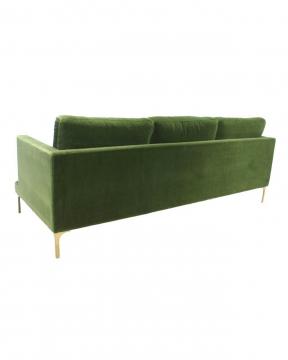 Bonham soffa 3-sits amazon green/mässing 3