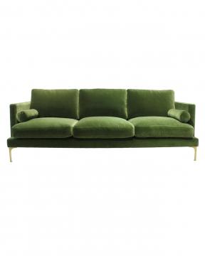 Bonham soffa 3-sits amazon green/mässing 1