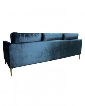 Bonham soffa 3-sits indigo/mässing 2
