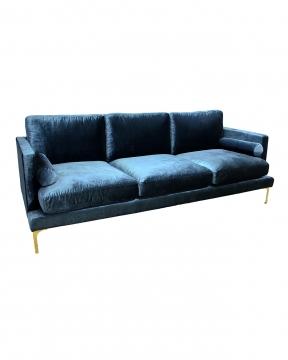 Bonham soffa 3-sits indigo/mässing 1