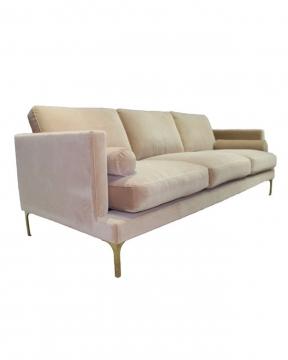 Bonham soffa 3-sits ivory/mässing 2