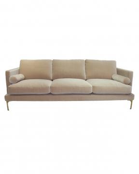 Bonham soffa 3-sits ivory/mässing 1
