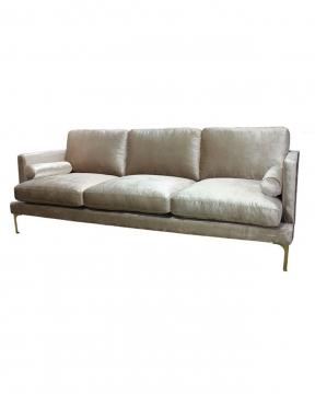Bonham soffa 3-sits oatmeal/mässing 3