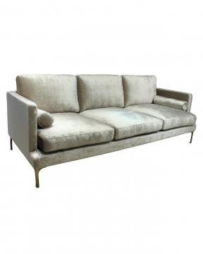 Bonham soffa 3-sits oatmeal/mässing 2