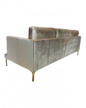 Bonham soffa 3-sits oatmeal/mässing 4