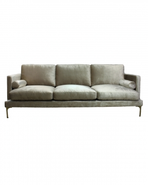 Bonham soffa 3-sits oatmeal/mässing 1
