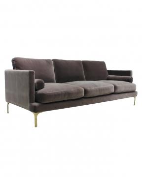 Bonham soffa 3-sits huckleberry/mässing 2