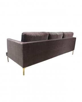 Bonham soffa 3-sits huckleberry/mässing 3