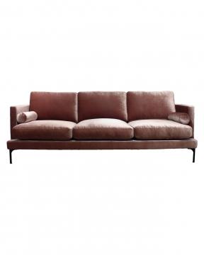 Bonham soffa 3-sits orchid pink/svart 1