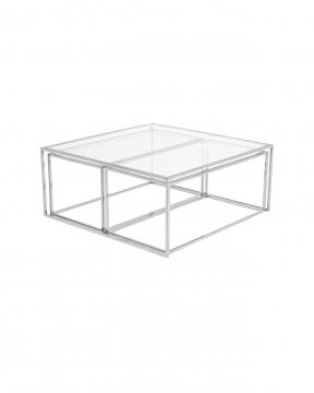 Three set table - satsbord krom låg 4