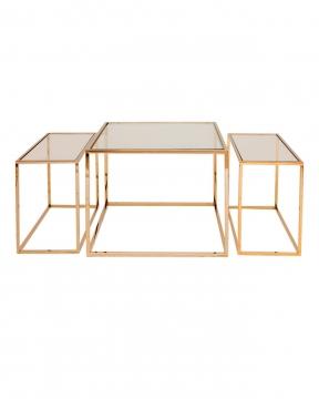 Three set table - satsbord mässing hög 1