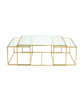 Three set table - satsbord mässing låg 2