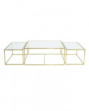 Three set table - satsbord mässing låg 1