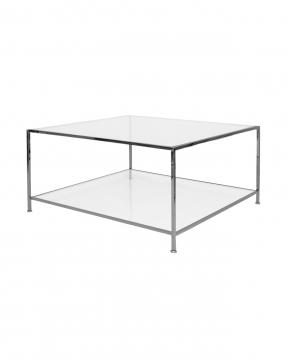 Big Square soffbord svart krom 3