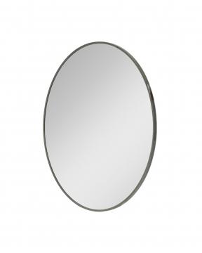 R & J spegel svart krom Ø100 2